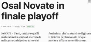 Screenshot Notiziario finale playoff